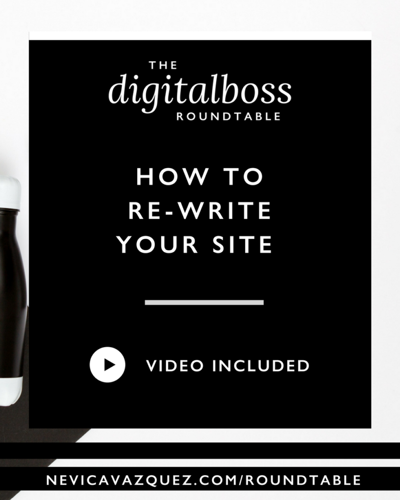 How To Re-Write Your Site [Roundtable Series With Janine Duff, and Vivian Nunez]