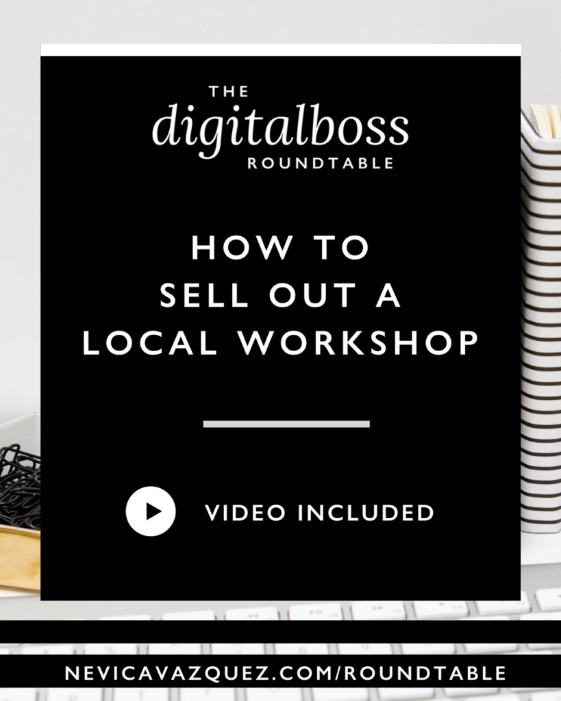How To Sell Out A Local Workshop [Roundtable Series with Theresa Delaney and Lauren Caselli]